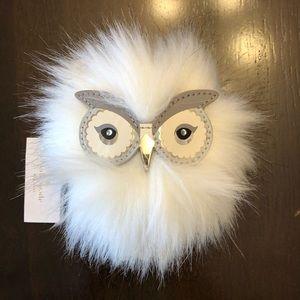 NWT Kate Spade owl key fob/purse decoration
